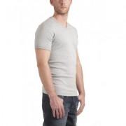 Garage T-Shirt V-neck Slimfit Grey Stretch (art 0202) - Licht Grijs - Size: 2X-Large