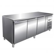 FORCAR Banco Refrigerato Gastronomia 3 Porte Cm 179,5 x 60 x 85/95, Temp -2° +8°C