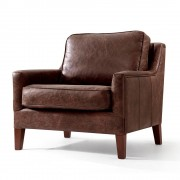 Rose & Moore Fauteuil Anglais Oxford en cuir Rose & Moore