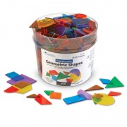 Forme geometrice transparente 408 piese Learning Resources
