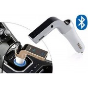 Auto Bluetooth FM-transmitter, 4 in 1, FM-transmitter handsfree bellen Mp3 speler oplader. – zilverkleurig