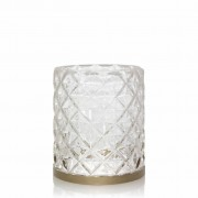 Yankee Candle Accessori Langham Metallic Band Faceted Glass Jar Candle Holder 1 Pz