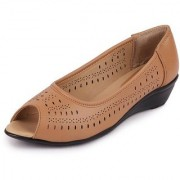 Fausto Women Casual Beige Slip On