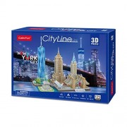 Puzzle 3D - City Line New York City - 123 piese