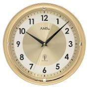 AMS Wandklok zendergestuurd 30 cm ø goudkleurig 5946