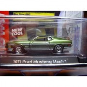 AUTO WORLD LICENSED PREMIUM BBC TOP GEAR Green 1:64 SCALE 1971 FORD MUSTANG MACH 1 DIE-CAST