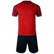 Conjunto De Fútbol Jersey Para Unisexo Permeabilidad De Color Solido - Rojo