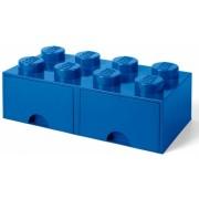Cutie depozitare LEGO 2x4 cu sertare, albastru (40061731)