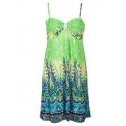 Fashionize Dress Beach Green