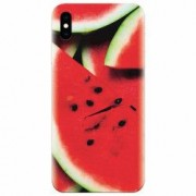 Husa silicon pentru Apple Iphone X S Of Watermelon Slice