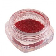 Nail Glitter Powder Magic Mirror Chrome Nail Art Decoration With Free Nail Brush - Red