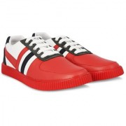Blinder Red White Black Casual Sneakers Lace-up Shoes For Men