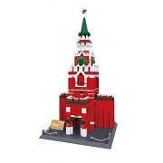 Wange Building & Construction 8017 The Spasskaya Torre de Moscú Kremlin Rusia Bloques de construcción (1048 Piezas)
