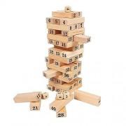 DUBU Wooden Tumbling Tower Blocks Garden Game Outdoor Family Party Stacking Block 48Pcs Bricks Games for Kids Children