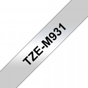 Tape 12mm TZe-M931 M-Svart på Silver