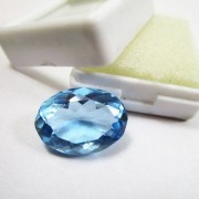 12.17 Ratti High quality Topaz stone Blue topaz Lab Certified