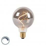 LUEDD E27 dimmable LED spiral filament lamp G95 smoke 4W 100 lm 2100K