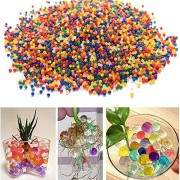Games&Tech 10,000 Water Beads Rainbow Mixed Color Magic Beads Balls Refill Pack for Orbeez Spa Refill, Sensory Toys and Dcor