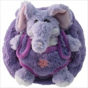 Kids Purple Plush Handbag With Elephant Stuffie Affordable Gift For Your Little One! Item #Dkki 7091