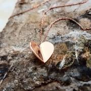 Üç Boyutlu Tasarım Kalp Gümüş Kolye