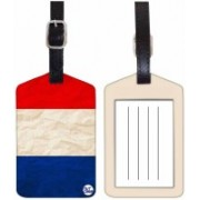 Nutcaseshop RED WHITE & BLUE Luggage Tag(Multicolor)