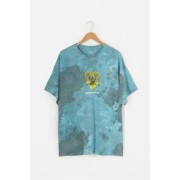 Urban Outfitters UO - T-shirt tie-dye Reimagine Teal- taille: S
