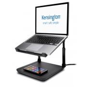 Kensington SmartFit® Suport pentru laptop cu înălțime reglabilă și suport încărcare wireless pentru telefon