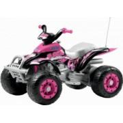 ATV Electric Copii Peg Perego Corral T-Rex 12V Pink