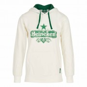 Heineken A warm and comfy organic cotton Heineken hooded sweatshirt that will keep you looking good and feeling cosy when the seasons change. Whether lounging about on the couch or having a day out with friends, this women's hoodie will do its best to