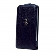 Officially Licensed Ferrari Black iPhone 5 Leather Flapcase