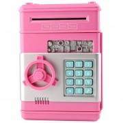 ER Mini Caja Fuerte Emulación ATM Hucha Rosa-Rosa