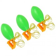 MagiDeal Pack of 3pcs Plastic Shuttle Pulling Ball Outdoor Sports Fun 2 Player Garden/Beach Game Interaction Toy Green –L