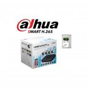 Kit de 4 Camaras Dahua Bullet 720p HD de 1 Megapixel con Disco de 1TB