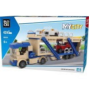 JOC DE CONSTRUCTIE MY CITY - TRANSPORTOR AUTO (424 PIESE) - BLOCKI (KB0223)