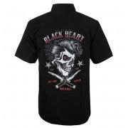 Camicia da uomo BLACK HEART - DENY BOY - NERO - 008-0027-BLK