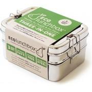 Eco Lunchbox - RVS - 3 bakjes in 1