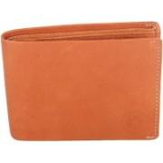 New Tareen Men Casual Tan Genuine Leather Wallet(6 Card Slots)