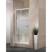 Schulte Home Porte de douche pivotante extensible Vita 89-101 cm, profilé blanc, dépoli light