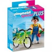 Комплект Плеймобил 4791 - Водопроводчик с колело - Playmobil, 291302