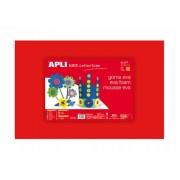 Moosgumi, 400x600 mm, APLI Eva Sheets, piros (LCA12756)