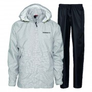 Didriksons Tigris Print Design Unisex Rainwear / Anoraks Set Top & Bottom Bone Quad 548177