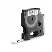Banda D1 12 mm x 5 5 m negru alb poliester permanent DYMO cod DY 16959