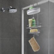 Metaltex Deutschland GmbH Metaltex Orbit Duschregal mit Kleinteile-Ablage, 3 Etagen, Rostfreies Duschregal mit exklusiver Chrometherm®-Beschichtung, Maße: 29 x 13 x 58 cm