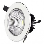 Spot LED 20W Rotund Mobil Alb-Argintiu
