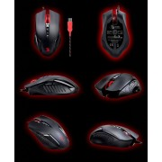 Mouse, A4 Bloody V5m, 3200DPI, Gaming, Metal