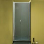Porta doccia a due battenti 2503 da 86/94 cm in cristallo 6 mm Brill Satinato