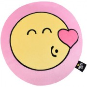 Smiley World Flying Kiss Expression Soft Cushion 12 Inches Pink by Ultra