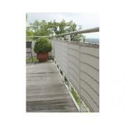 Aparatoare balcon, 90 x 500 cm, gri argintiu