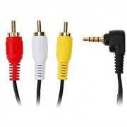 3.5mm Stereo to 3 RCA AV Camcorder Audio Video Cable 1.5m