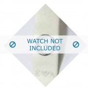 Giorgio Armani bracelet de montre AR-1008 En caoutchouc Blanc 25mm
